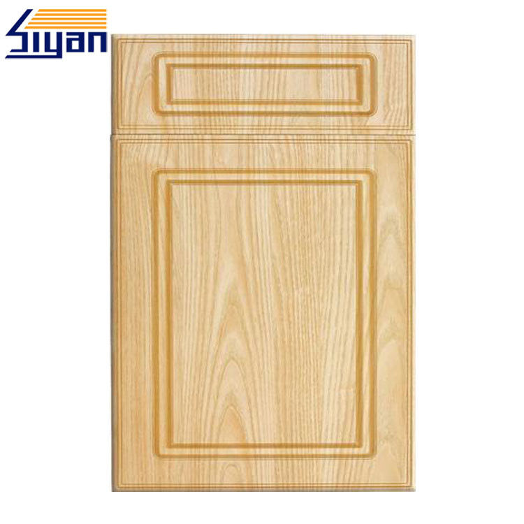 Flat Panel MDF Shaker Kitchen Cupboard Doors Classic Style With Wood Texture Color