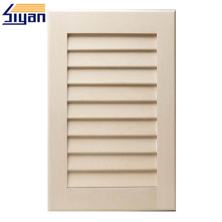 PVC Shutter Style Cabinet Doors MDF Laminated Kitchen Wall Cupboard Doors